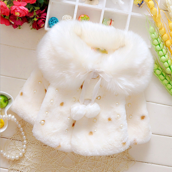 Wholesale girl warm hooded baby cloak baby coat winter coats