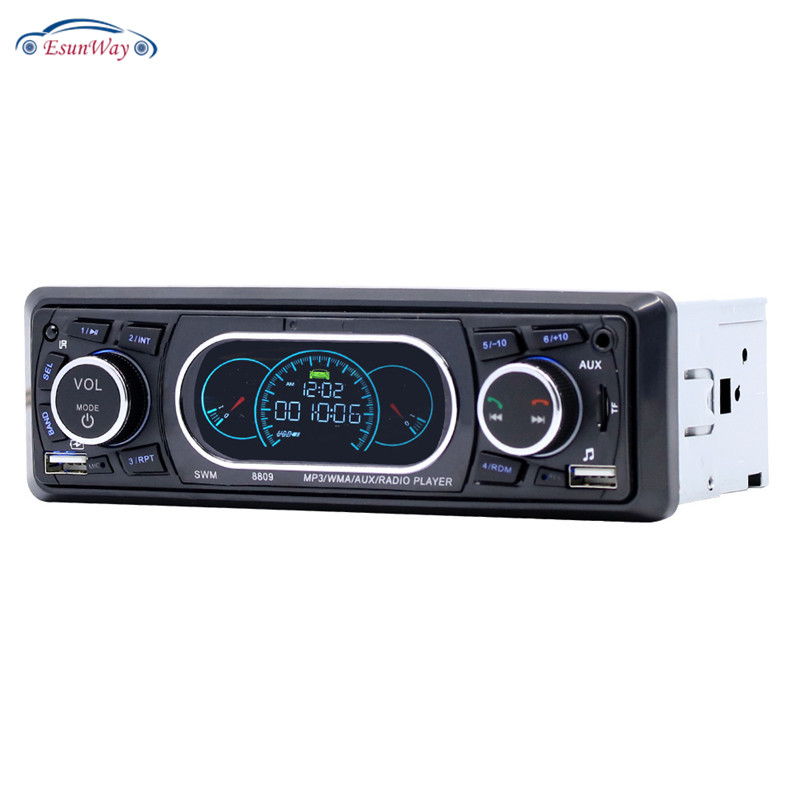 Esunway Mp3 стерео проигрыватель многофункциональная автомобильная материнская плата радио Громкая связь U диск тональный AUX/TF/USB MP3 плеер 8809