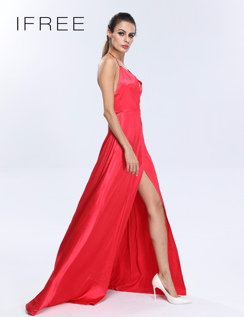 2017 The Best High High Slit Woman Celebrity Red Carpet