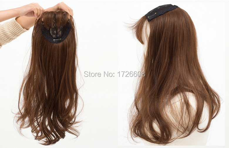 Topper Quality Remy Synthetic Hair Clip In Toupee Women S Long Hair ... 6c932f9953