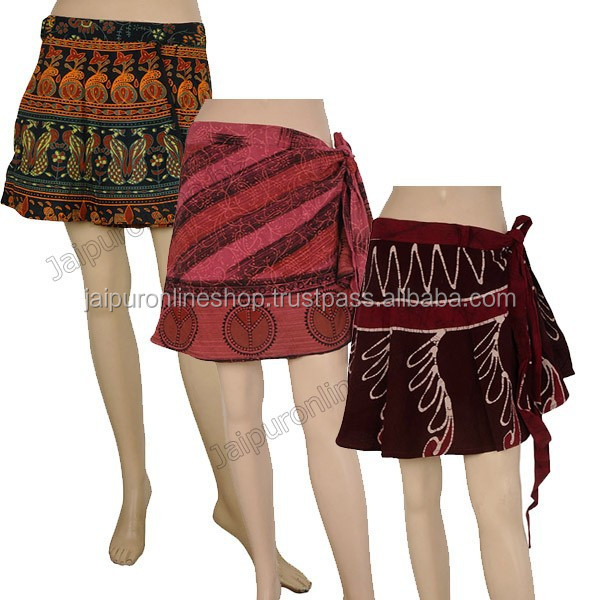 Wrap around mini skirtINDIA