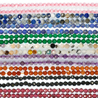 Factory wholesale discount promotion natural gemstone beads, faceted beaded handmade jewelry DIY production design