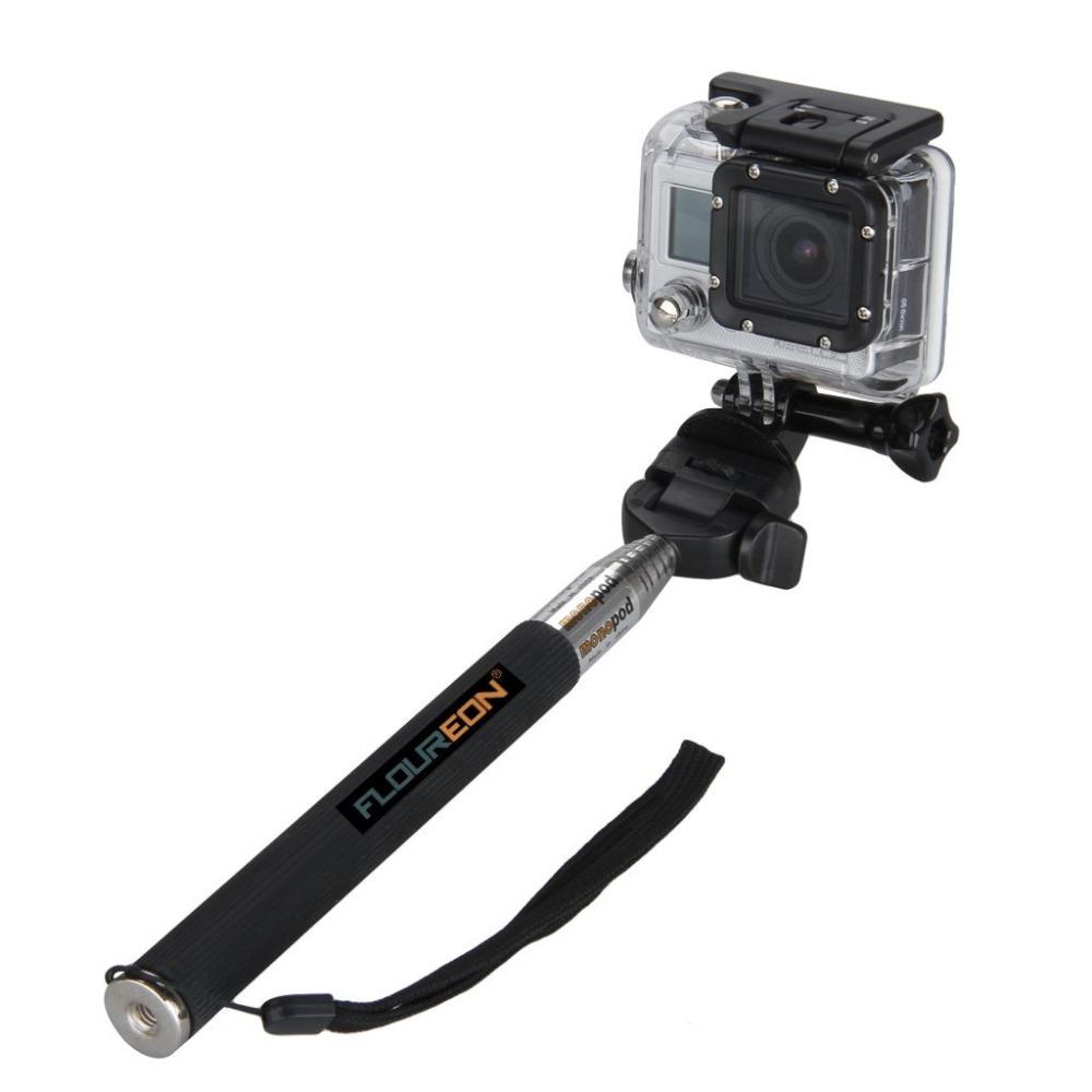 Для Gopro Штативы Выдвижная Телескопическая Ручной Древковому Монопод с Штатив Адаптер для Gopro HD Hero 3 +/3/2/1 Цифровой Камеры