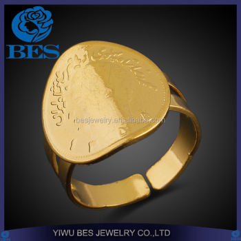 Men Head Adjustable Pukhraj Ring Designs Engagement Ring in 916 Gold