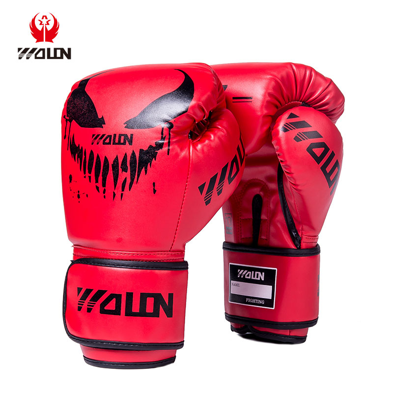 wolon wholesale professional leather training bag and sparring oem custom logo kick boxing gloves