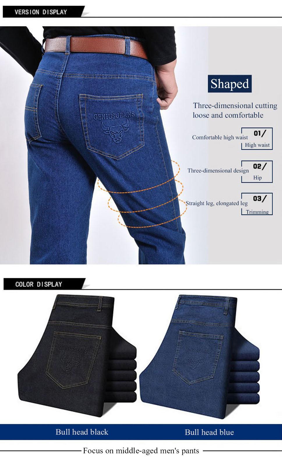 932bb5c199 Pantalones Vaqueros Rectos Clásicos Para Hombre Pantalones Casuales ...