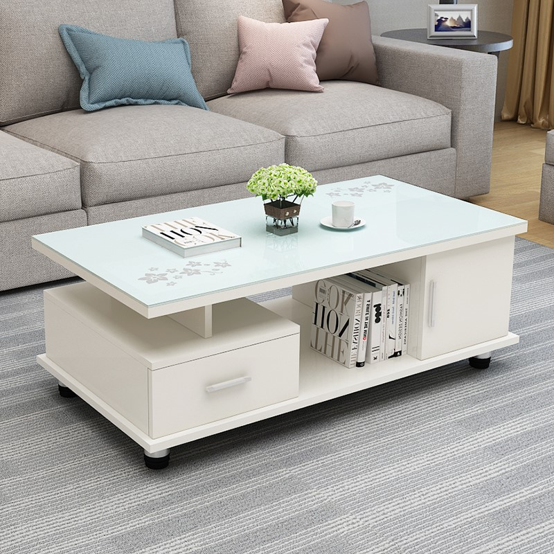 Melamine Wooden Panel Door And Drawer Glass Top Coffee End Table Buy Glass Top Coffee Table Melamine Wooden Panel End Table Wooden Coffee Table Product On Alibaba Com