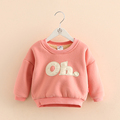 Child Letter Hoodies 2017 New Korean Fashion Boys And Girls O neck Pullover Tops Kids Fleece
