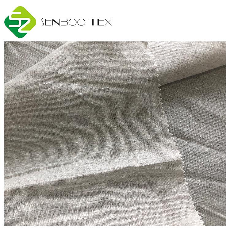 Оптовая продажа натуральный льняной ткани 100% льняная одноцветная окрашенная ткань льняная ткань для чайной посуды/скатерть устойчиво 3 ~ 4 уровня 150GSM