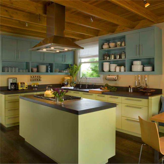 Matt Green Simple Design Wood Kitchen Furniture In Usa - Buy Wood
