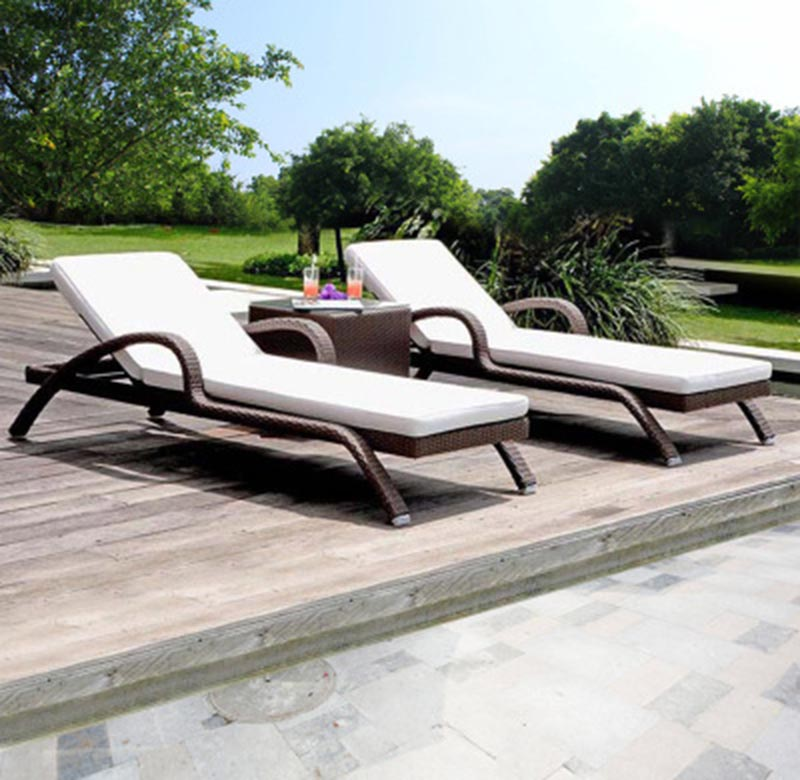 Мебель для отдыха на открытом воздухе, шезлонг, пляжный плетеный стул из ротанга