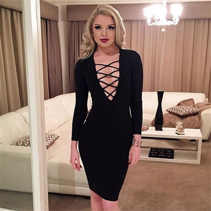 74b8ce9fd New Design 6 Color Western Style Women Dress Long Sleevele Sexy Dresses for  Ladies Womens Sexy Dress Party Night Club Dress 2017-in Dresses from Women's  ...