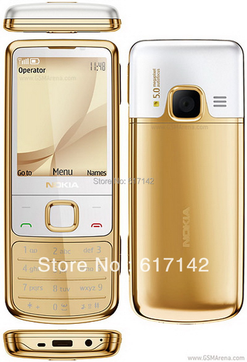 3pcs/lot Nokia 6700 Classic Gold English/Russian keyboard GSM GPS 5MP Free  Shipping