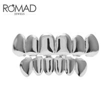 Набор для косплея ROMAD, топ и низ в стиле хип-хоп, с зубами, в стиле панк, золотого, серебряного цвета, с накладными зубами, R50(Китай)
