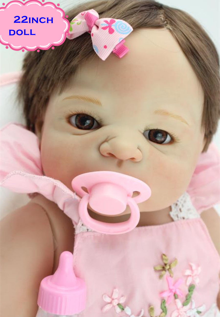22 New Arrival Victoria Full Silicone Reborn Dolls With Hand Root Hair Popular Simulation Baby Boneca