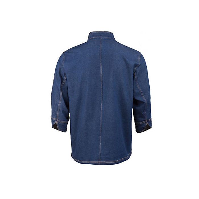 Denim indonesia italian japanese chef uniform set design chef clothing coat chef jacket