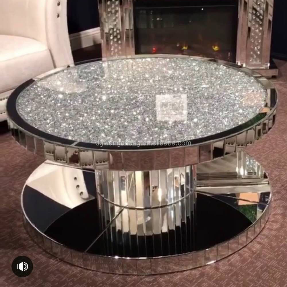 Crushed Diamond New Style Round Mirrored Coffee Table Buy Glass Coffee Tables Modern Round Coffee Tables Coffee Table Product On Alibaba Com [ 1000 x 1000 Pixel ]