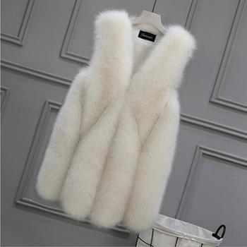 STABILE Wholesale New Hot Europe Custom Winter Warm Fur gery Fur Coat Womens Faux Fur vest Women