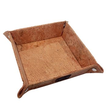 Boshiho Eco-friendly Gift Cork Jewelry Catchall Key Coin Box cork tray
