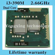 Lifetime warranty Dual Core i3 390M 2.66GHz 390 Notebook processors Laptop CPU PGA 988 Official version  Computer Original