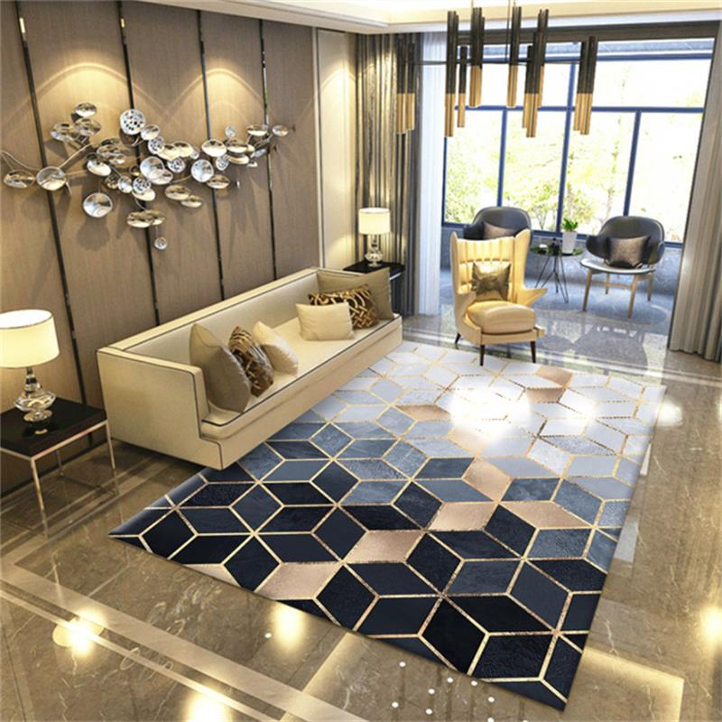 Marble Texture Carpet Modern Bedroom