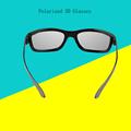 Top quality Black Frame Universal 3D Plastic glasses not flash type polarized 3D glasses 3D cinema