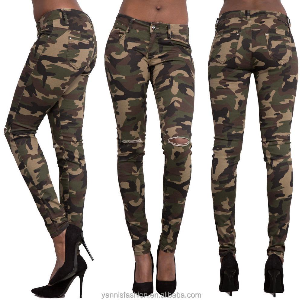 Модные камуфляжные джинсы-карандаш с вышивкой и карманами, Женские джинсы-карандаш с завышенной талией, джинсовые брюки-карандаш E 241
