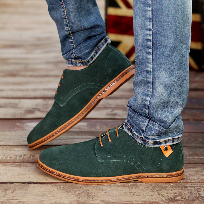 Stylish Suede Shoes Derby Men
