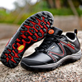 2016 New Outdoor Fun Sports Mountain Trekking Shoes Hunting Boots goretex black Genuine Leather Waterproof Hiking