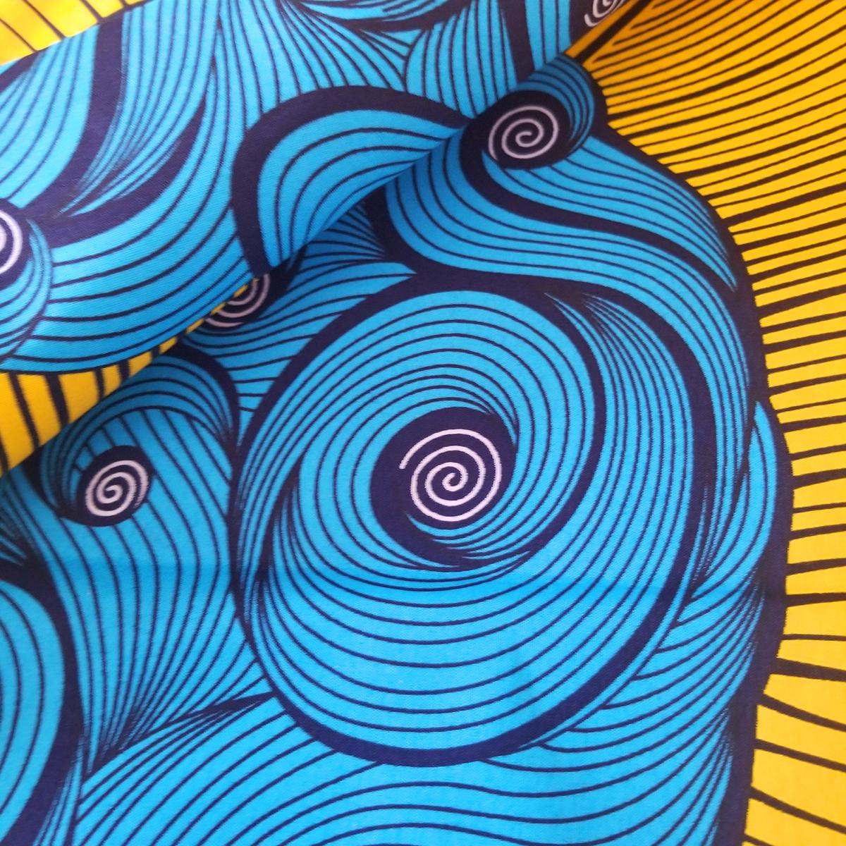 African wax print 100% Polyester wax print fabric