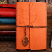 Винтажный дорожный блокнот, дневник, блокнот из искусственной кожи, спиральная книга для книг, бумажные журналы планирования, школьные канц...(Китай)