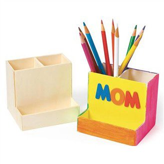 2PCS/LOT.Paint unfinished wood pen holder,Pencil holder ...