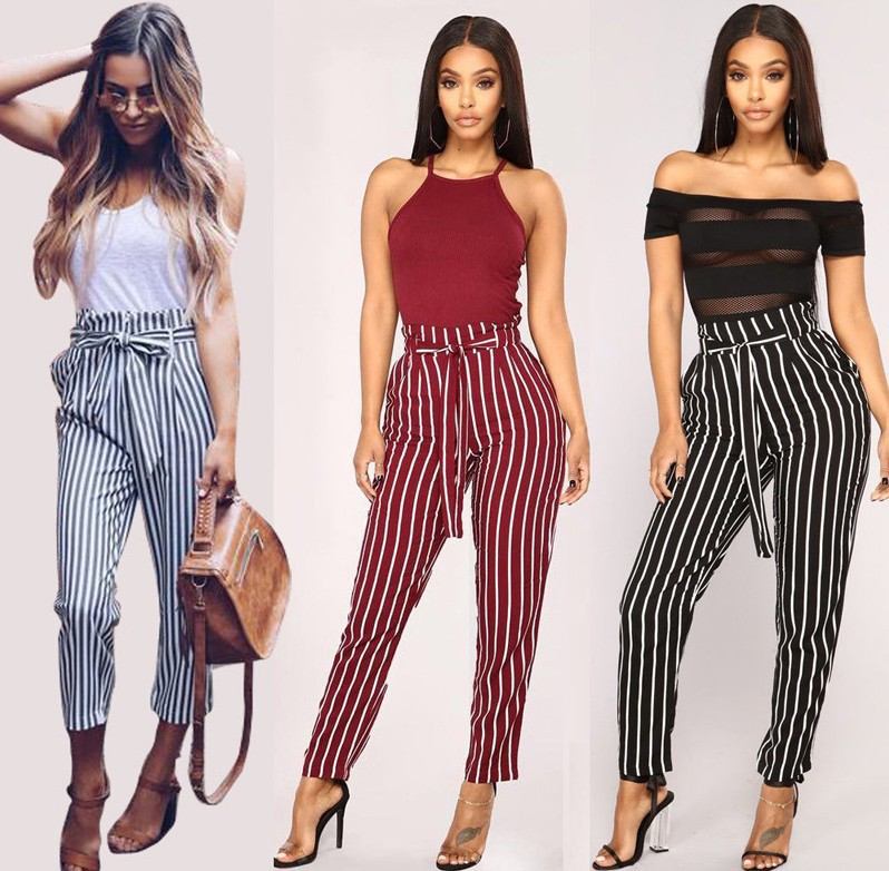 Ecofalson Pantalones A Rayas Para Mujer Pantalon Informal S 2xl Nuevo Diseno 2019 Buy Pantalones Rayados Pantalones De Mujer Pantalones Caual Product On Alibaba Com
