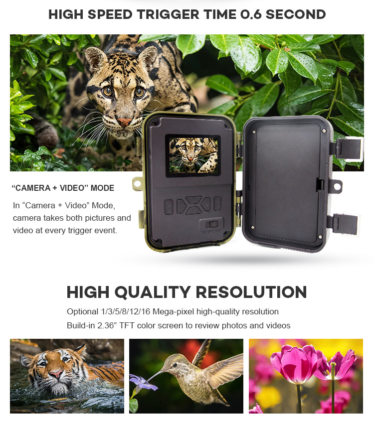 Manufacturer Sale cellular SIM card Night Vision Trail Video Cameras For Hunting Scouting Game