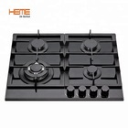 Built-in 60cm 4 burners gas stove/cooking gas cooktop/tempered glass gas hob