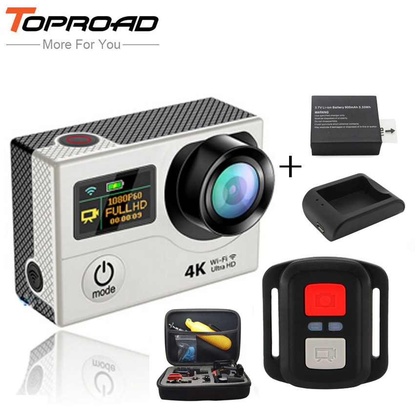 [Аккумулятор + Зарядное Устройство + Сумка] ЭКЕН Ultra HD 4 К H3R 1080 P WIFI Действий Камеры 2.4 Г Дистанционного Мини Камера Спорта deportiva Видеокамеры DVR Cam