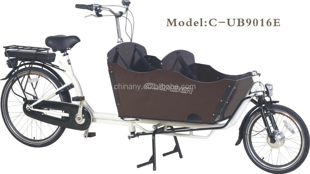 Ub9016e 2 Wheel Family Cargo Bike For Children Pedelec