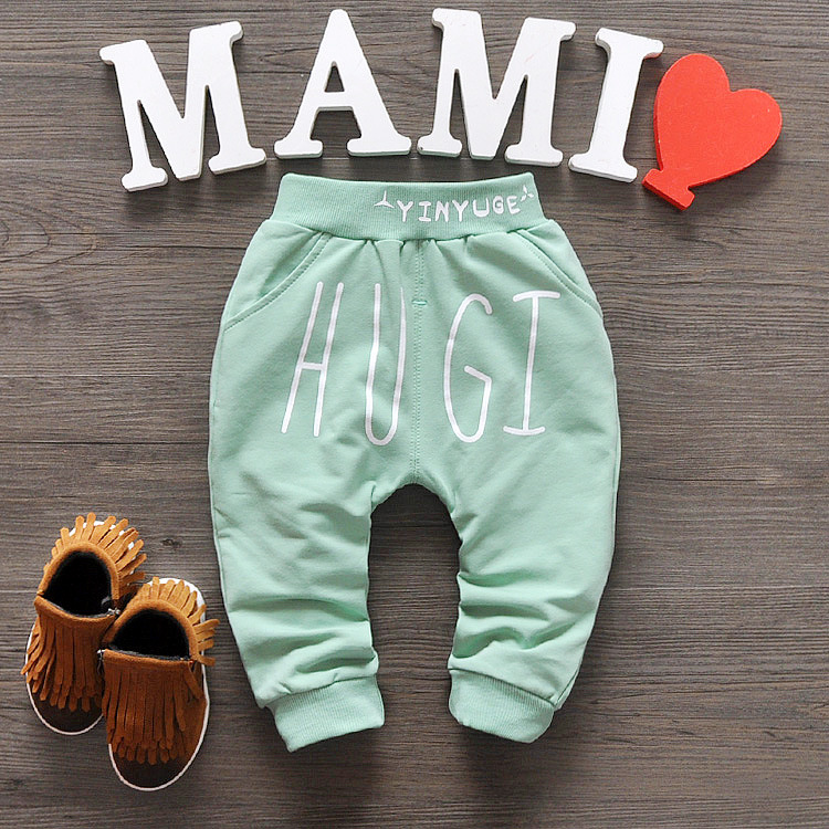 2016 New Spring Autumn Baby Pants 1 piece Cotton Star Pattern Kids Pants Baby Girls And