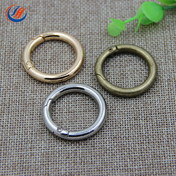 Stock sale multiple size trigger snap clip metal gate clasp spring o ring for garments,accept custom size