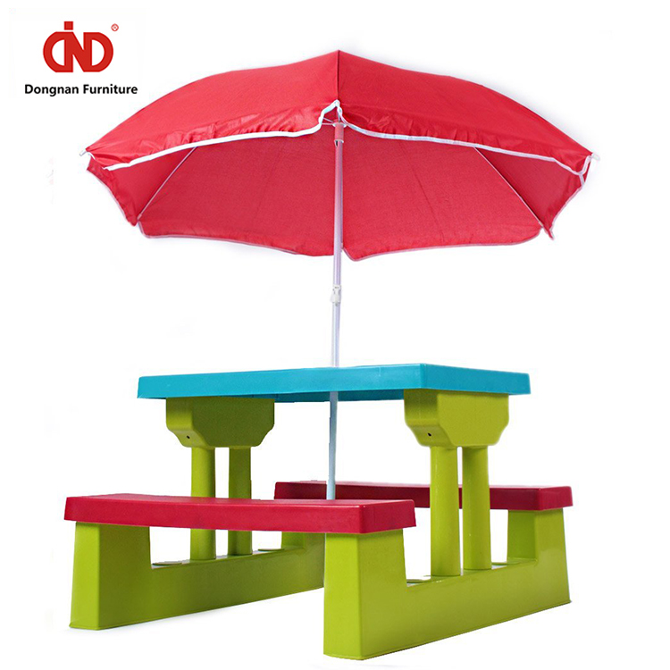 Plastic Dining room Table And Chair set for Kids New Style Customized