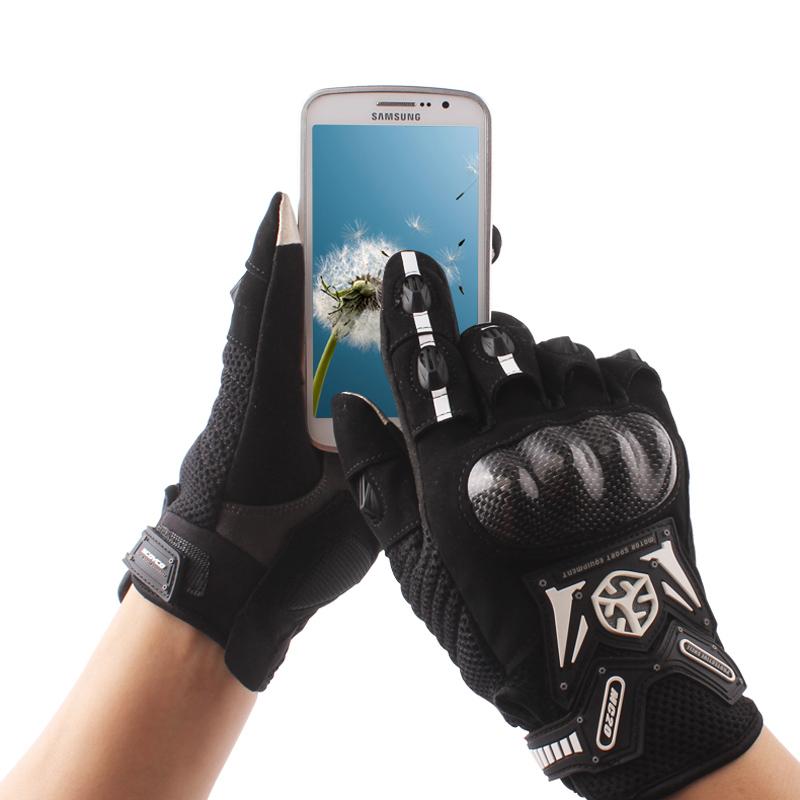 Motorcycle Gloves Carbon Fiber Drop Resistant Protective Non slip Gloves Touch Screen Guantes Luvas Alpine Motocross