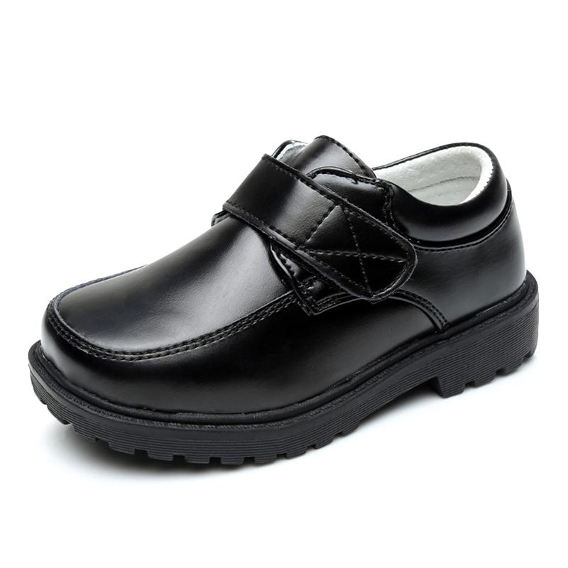 Заводская цена, Китай, оптовая продажа, черная кожаная детская обувь для мальчиков, белая повседневная обувь для школы
