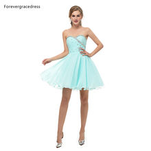 Женское вечернее платье Forevergracedress, шифоновое платье без рукавов с открытой спиной, короткое платье большого размера на заказ, 2019(Китай)