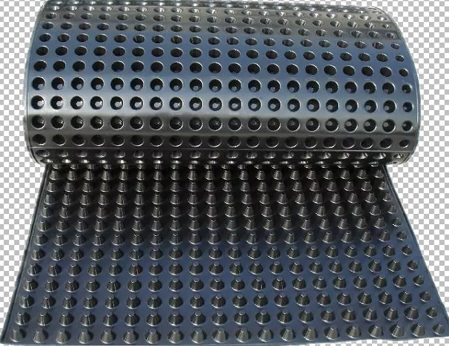 Engineering Plastic 10mm height drain board/8mm plastic HDPE dimple drainage board PE drain sheet