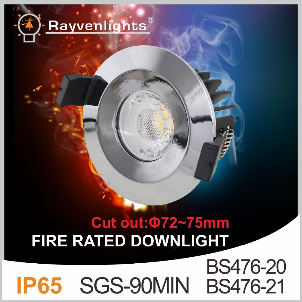 UK market 75mm cut out 7W 8W 10W dimmable fire rated led downlight