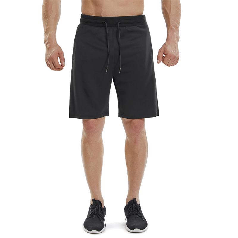 09d2ec060b Pantalones cortos de gimnasio para hombre Side Stripe Crossfit Short Sport  Homme Zipper Pocket Gimnasios de fitness Running Shorts Hombres Athletic ...