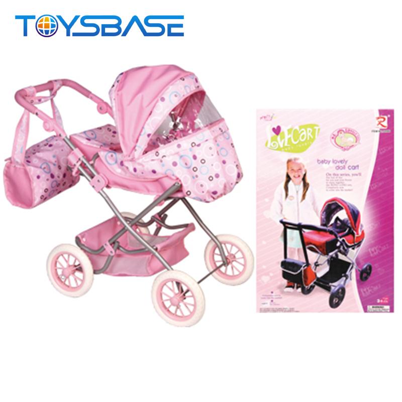 Most Popular Children Lovely Pretend Play Trolley Cart Toy Doll Stroller