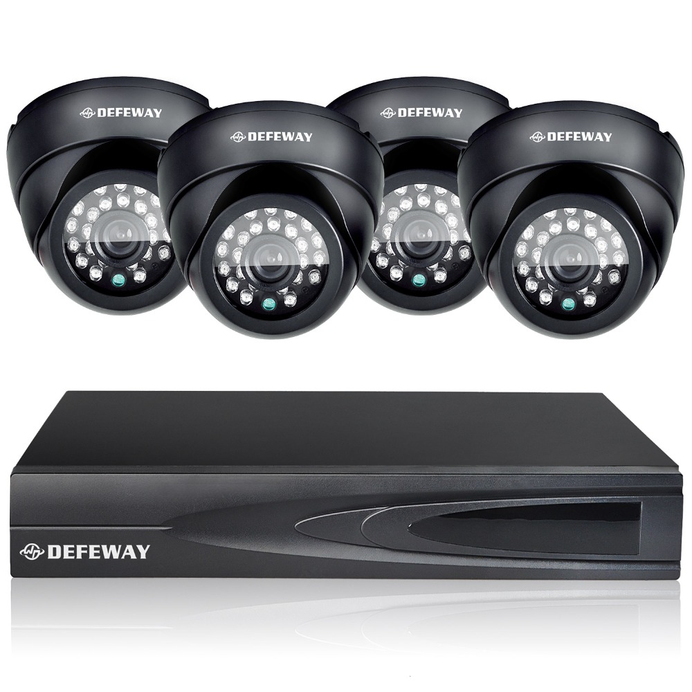DEFEWAY HD home video Surveillance system 4CH Full 960H NVR DVR KIT 800TVL CCTV waterproof Outdoor security Camera system