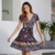 2019 Spring newest national style sexy summer bohemian dress deep V-neck floral boho dress