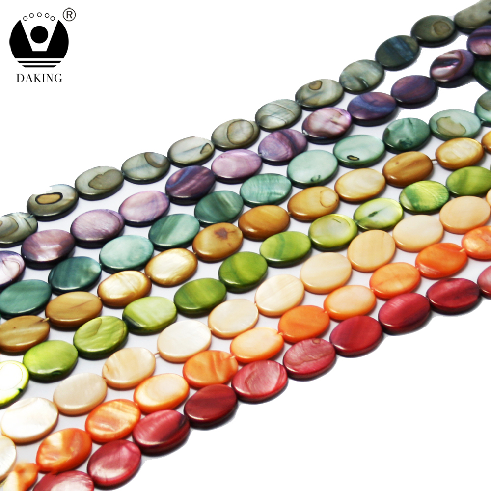 14*18Wholesale Multi-color Freshwater Shell Beads For Jewelry Making